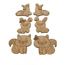 Kit Parejas de Animalitos 3  en DM de 3mm